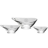 Coast Guard Academy Set of 3 Deep Etched Party Bowls