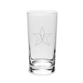 Vanderbilt Commodores 10 oz Deep Etched Highball Glass