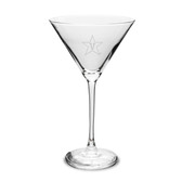 Vanderbilt Commodores 10 oz Deep Etched Martini Glass