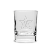 Vanderbilt Commodores 11.75 oz Deep Etched Double Old Fashion Glass