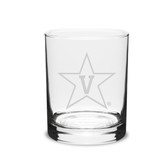 Vanderbilt Commodores 14 oz Deep Etched Double Old Fashion Glass