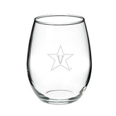 Vanderbilt Commodores 15.0 oz Deep Etched Stemless Deep Etched Red Wine Glass