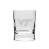 Virginia Tech Hokies 11.75 oz Deep Etched Double Old Fashion Glass