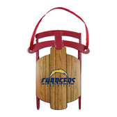 San Diego Chargers Metal Sled Ornament