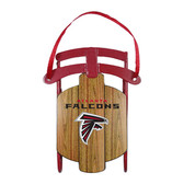 Atlanta Falcons Metal Sled Ornament