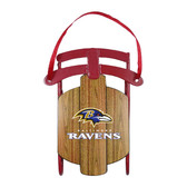 Baltimore Ravens Metal Sled Ornament