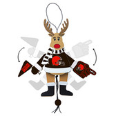Cleveland Browns - Cheering Reindeer - Wood