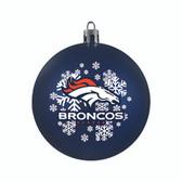 Denver Broncos Ornament - Shatterproof Ball