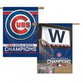 Chicago Cubs Banner - 28 in x 40 in - 2 Sided - 2016 World Series Champs