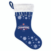 Chicago Cubs 2016 World Series Champs Snowflake Christmas Stocking