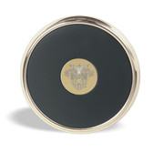 West Point Gold Tone Coaster