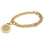 Cal State Fullerton Gold Charm Bracelet