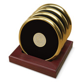Wake Forest Demon Deacons Gold Tone Coaster Set of 4