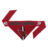 Arizona Cardinals Dog Bandanna Size M