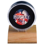 Ultra Pro  Dark Wood Puck Holder