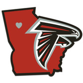 Atlanta Falcons Decal Home State Pride