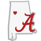 Alabama Crimson Tide Decal Home State Pride Style
