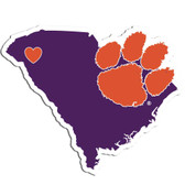 Clemson Tigers Decal Home State Pride Style