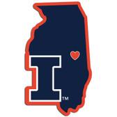 Illinois Fighting Illini Decal Home State Pride Style