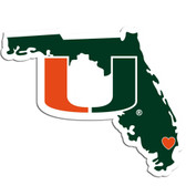 Miami Hurricanes Decal Home State Pride Style Special Order