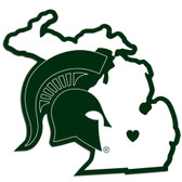 Michigan State Spartans Decal Home State Pride Style
