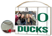 Oregon Ducks Clip It Weathered Logo Photo Frame