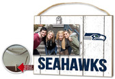 Seattle Seahawks Clip It Weathered Logo Photo Frame