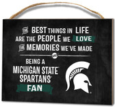 Michigan State Spartans Small Plaque - Best Things