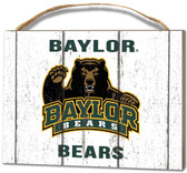 Baylor Bears Small Plaque - Weathered Logo
