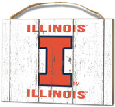 Illinois Fighting Illini Small Plaque - Weathered Logo