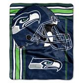 Seattle Seahawks Blanket 50x60 Raschel Touchback Design