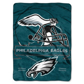Philadelphia Eagles Blanket 60x80 Raschel Prestige Design