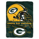 Green Bay Packers Blanket 60x80 Raschel Prestige Design