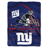 New York Giants Blanket 60x80 Raschel Prestige Design