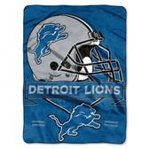Detroit Lions Blanket 60x80 Raschel Prestige Design