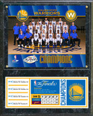 Golden State Warriors 2017 NBA Finals Champions Plaque