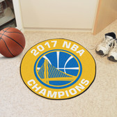 "Golden State Warriors 2017 NBA Champions Basketball Mat 27"" diameter"