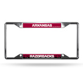 Arkansas Razorbacks License Plate Frame Chrome EZ View