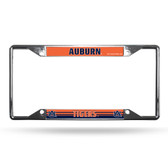 Auburn Tigers License Plate Frame Chrome EZ View