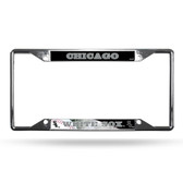 Chicago White Sox License Plate Frame Chrome EZ View
