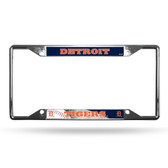 Detroit Tigers License Plate Frame Chrome EZ View