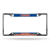 Florida Gators License Plate Frame Chrome EZ View
