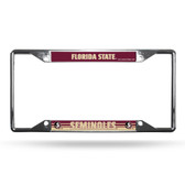 Florida State Seminoles License Plate Frame Chrome EZ View