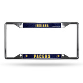 Indiana Pacers License Plate Frame Chrome EZ View