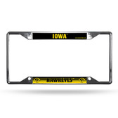 Iowa Hawkeyes License Plate Frame Chrome EZ View