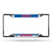 Kansas Jayhawks License Plate Frame Chrome EZ View