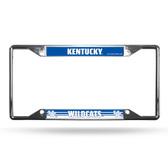 Kentucky Wildcats License Plate Frame Chrome EZ View