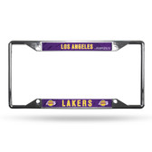 Los Angeles Lakers License Plate Frame Chrome EZ View