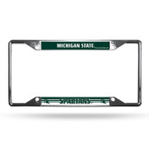 Michigan State Spartans License Plate Frame Chrome EZ View