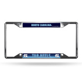 North Carolina Tar Heels License Plate Frame Chrome EZ View